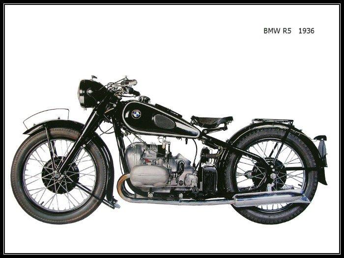 historia de la primera moto BMW 1936-R5-1a